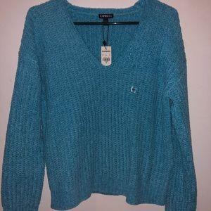 Express blue sweater